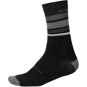 Endura BaaBaa Merino Stripe Socks Men, negro